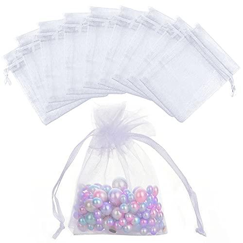 200 bolsas de organza para bodas, regalos de 7 cm x 9...