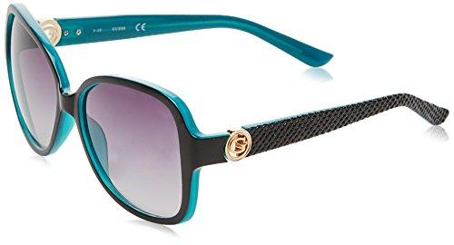 Guess GF0275 Gafas de sol, Negro (Nero/celeste), 58 para Mujer