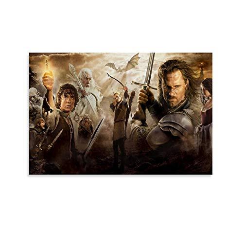 DRAGON VINES Póster de The Lord of the Rings Hobbit Frodo Baggins Gandalf Legolas para pared (20 x 30 cm)