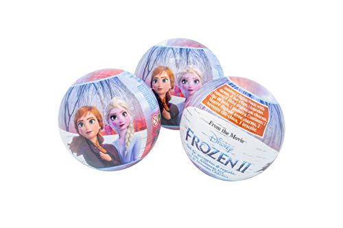 Disney Frozen Diney Frozen II Überraschungsball 7 cm mit LCD, Armband, 2 Anhängern für die Uhr und 2 Haarklippchen 1