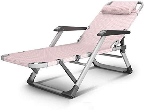 Sillón reclinable al Aire Libre Reclinable Ajustable for Trabajo Pesado, Plegable, reclinable for Patio Trasero al Aire Libre césped Junto a la Piscina y la Playa, (Color : Chair)