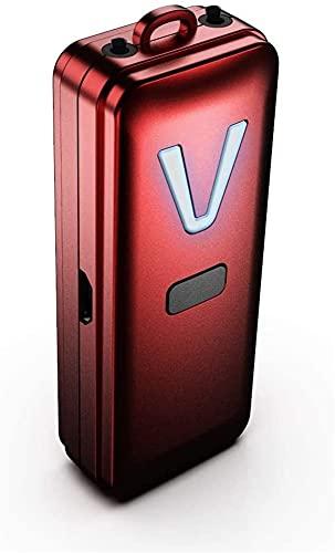 Xingdong - Collana con purificatore d'aria portatile, portatile, con ionizzatore negativo, resistente (colore: rosso)