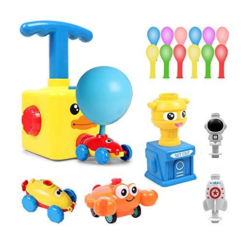 TDCQ Kinder Ballon Auto Spielzeug,Children Inertial Power Ball Car,Balloon Powered Car Balloon Launcher Toy,Luftballonpumpe Lernspielzeug mit (Ente)