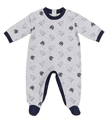OLYMPIQUE DE MARSEILLE Grenouillère Pyjama Om bébé - Collection Officielle Taille garçon 18 Mois