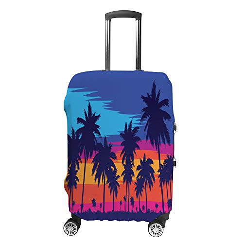 Luggage Cover Travel Anti-Scratch Suitcase Cover Baggage Protector Case Beach Palm Tree Fit Washable Accessories Dustproof XL
