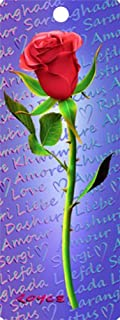 Red Rose 3-d Bookmark