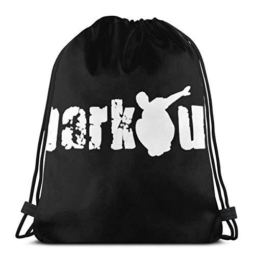 Colorful products Parkour 3D Print Drawstring Backpack Rucksack Shoulder Bags Gym Bag for Adult 16.9