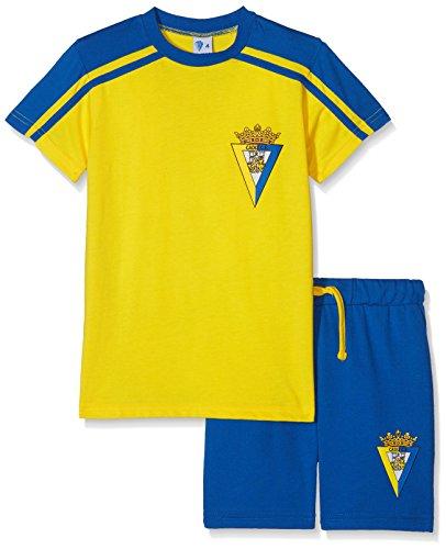 Cádiz CF Pijcad Pijama Corta, Bebé-Niños, Multicolor (Amarillo/Azul), 10