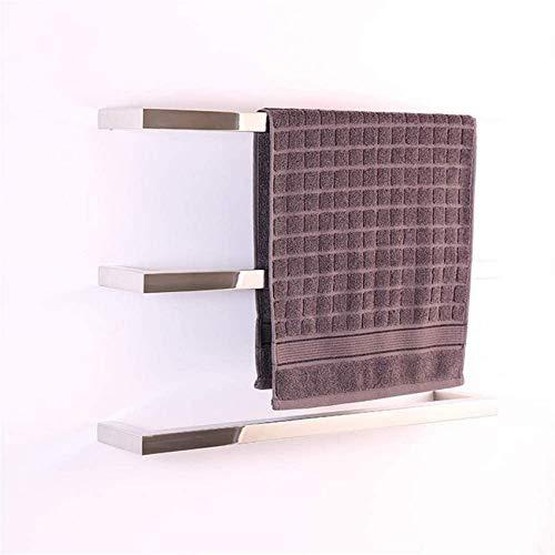 ADSE Calentador de Toallas eléctrico de 3 Barras montado en la Pared, de Acero Inoxidable Pulido y cableado, para baño, toallero Caliente, Calentador de Toallas calentado para Mantener el Secado