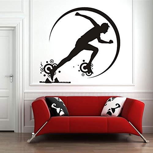 zhuziji Pegatinas de Pared de Gimnasia Juko , Venta Color Personalizado Stof A Race S Rooms Gimnasio en casa Estilo Anual Diseño Autoadhesivo Etiqueta Impermeable Ho57x71cm