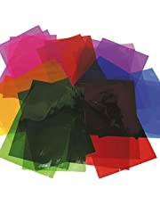 Baker Ross A4 arkusze celofanowe, różne kolory – kreatywne materiały artystyczne i rzemieślnicze do projektów dziecięcych witrażowych i kolażu (36 sztuki), papier