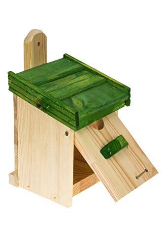 MAZUR International Nichoir à oiseaux en bois - Nichoir à suspendre - Nichoir pour oiseaux bleus - Moineau, rouge-gorges - Pour nicher dans votre jardin - Nichoir sur clôture