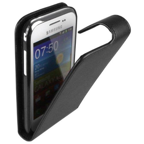 mumbi Tasche Flip Hülle kompatibel mit Samsung Galaxy Ace Plus Hülle Handytasche Hülle Wallet, schwarz