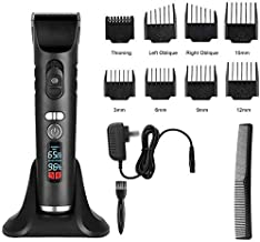 Hair Clippers Sets Rechargeable Hair Trimmer Clippers for Men Cordless Hair Cutting Kit with 8 Guide Combs Including Charging Dock