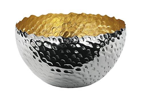 Fink MEIGO Schale,vernickelt,innen Gold 14x14x8cm