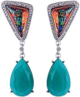Colorful Resin Crystal Earrings