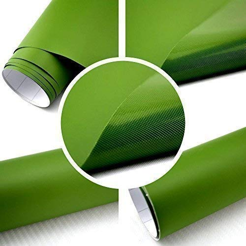 TipTopCarbon 6,57€/m² Autofolie dunkel-grün BLASENFREI 30m x 1,52m mit Luftkanälen 3D Flex