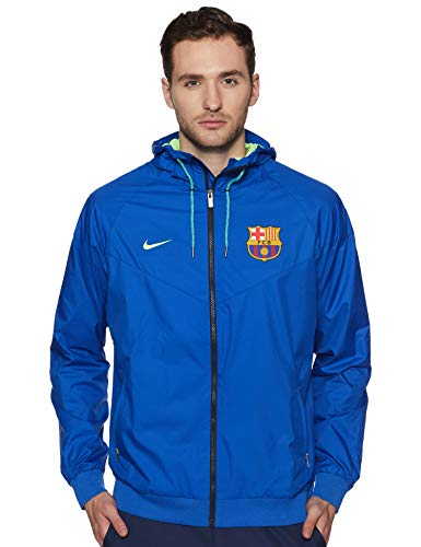 Nike Fcb M Nsw Wr Wvn Aut Chaqueta Fc Barcelona, Hombre, Azul (Game Royal / Ghost Green / Ghost Green), M