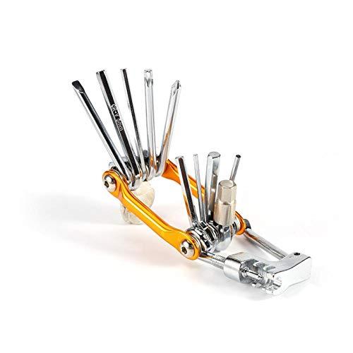 Cuque Kit de Herramientas de reparación de Bicicletas, Kit de Herramientas de reparación de Bicicletas 11 en 1 Kit de Herramientas de reparación múltiple para Bicicletas