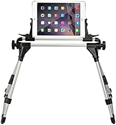 Multipurpose, Adjustable, Stay-where-you-set, Over-bed, kindle and iPad stand that can even hold the screen over your head while lying down.