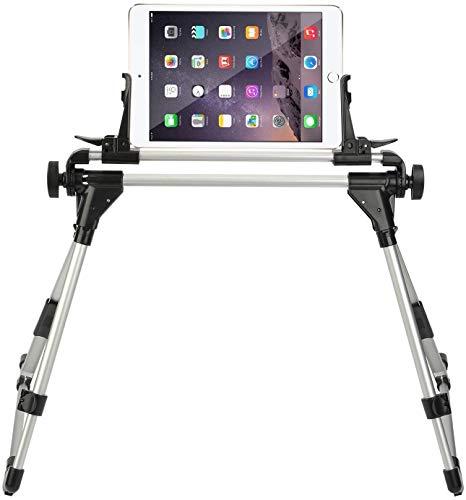 StillCool Tablet Holder for Bed, Adjustable and Foldable Tablet Stand Holder Fit for iPad iPhone Cellphone Tablet Kindle (Black)