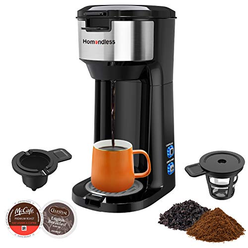 Single Serve Coffee Maker for K Cup Pods, Ground Coffee & Tea, 3-IN-1 Thermal Drip Instant Coffee Machine Brewer with Upgraded Anti-spill Filter, Self Cleaning Function, Brew Strength Control
