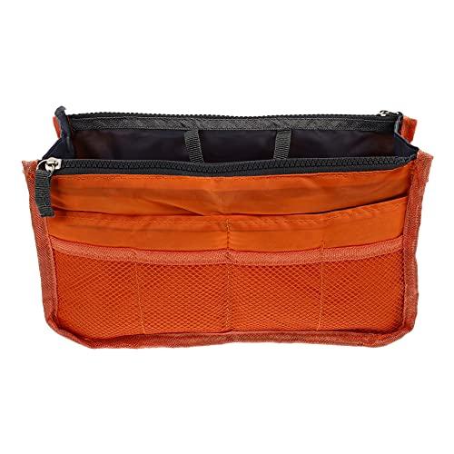 Cabilock Orange Multi Schicht Einfügen Handtasche Veranstalter Tasche in Tasche Kosmetik Lagerung Make- Up Tasche Organisatoren Container Organizer Lagerung Organisation Handtasche Liner