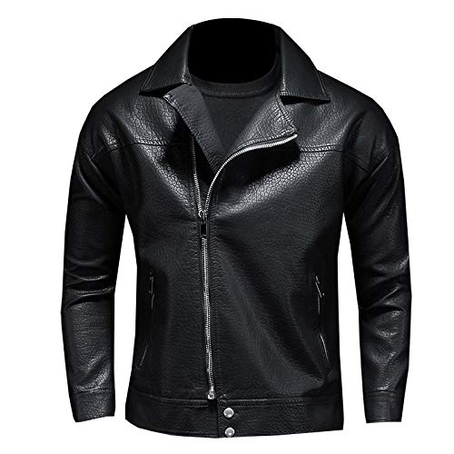 WEDGFG grote revers los schouder leren jas groot formaat motorfiets lederen jas