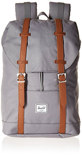 Herschel Supply Co. Retreat mid-Volume Rucksack, Grey/Tan Synthetic Leather (grau) - 10329-00006-OS