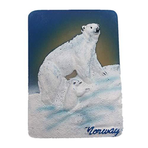 Weekinglo Souvenir Frigorífico Imán Cerveza Polar Noruega Resina 3D Artesanía Hecha A Mano Turista Ciudad de Recuerdos de Recuerdos Carta de Refrigerador Etiqueta