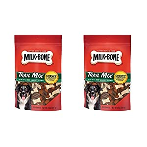 Milk-Bone Trail Mix (2 Pack) with Real Beef & Sweet Potato Chewy & Crunchy Dog Treats