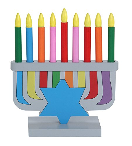 Children's Wooden Toy Menorah With Removable Candles