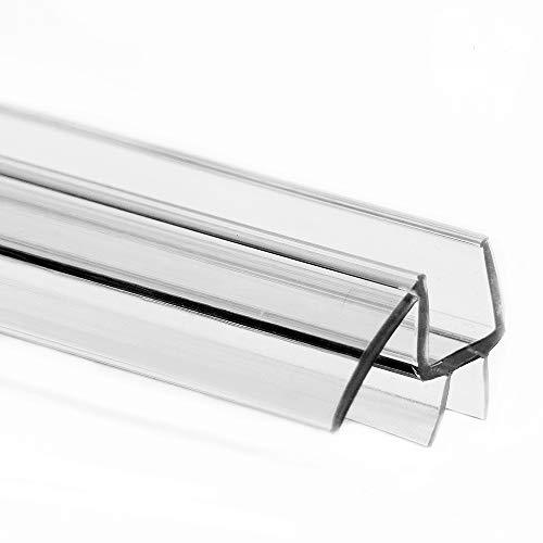 eatelle Frameless Shower Door Bottom Seal with Drip Rail