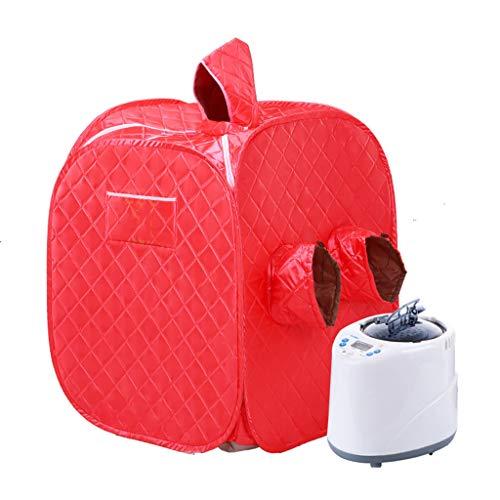 Yxx max Machine Se Pliante portative de Fumigation de Corps de Bath de Detox de Perte de Poids de Sauna (Couleur : Red)