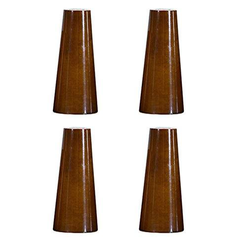 4 x Holz-Sofa-Beine, Möbelbeine, kegelförmig, Holzmaterial, Stuhl, Bett, Schrank, Teetisch, TV-Schrank, Ersatzbeine, Hardware (Farbe: Walnuss-Farbe, Größe: 12 cm)