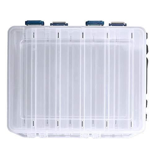 love lamp Fischbox Fischbox Fächer Angeln Zubehör Lure Haken Boxen Lagerung Doppelseitig Hohe Festigkeit Outdoor Fishing Tackle Box Angelausrüstung (Color : White)