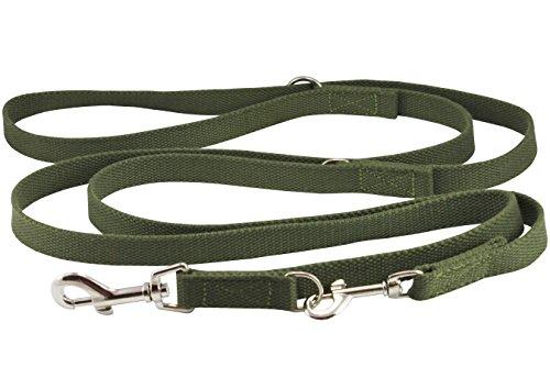 Dogs My Love 6 Way European Multi-Functional Cotton Web Dog Leash, Adjustable Lead 50