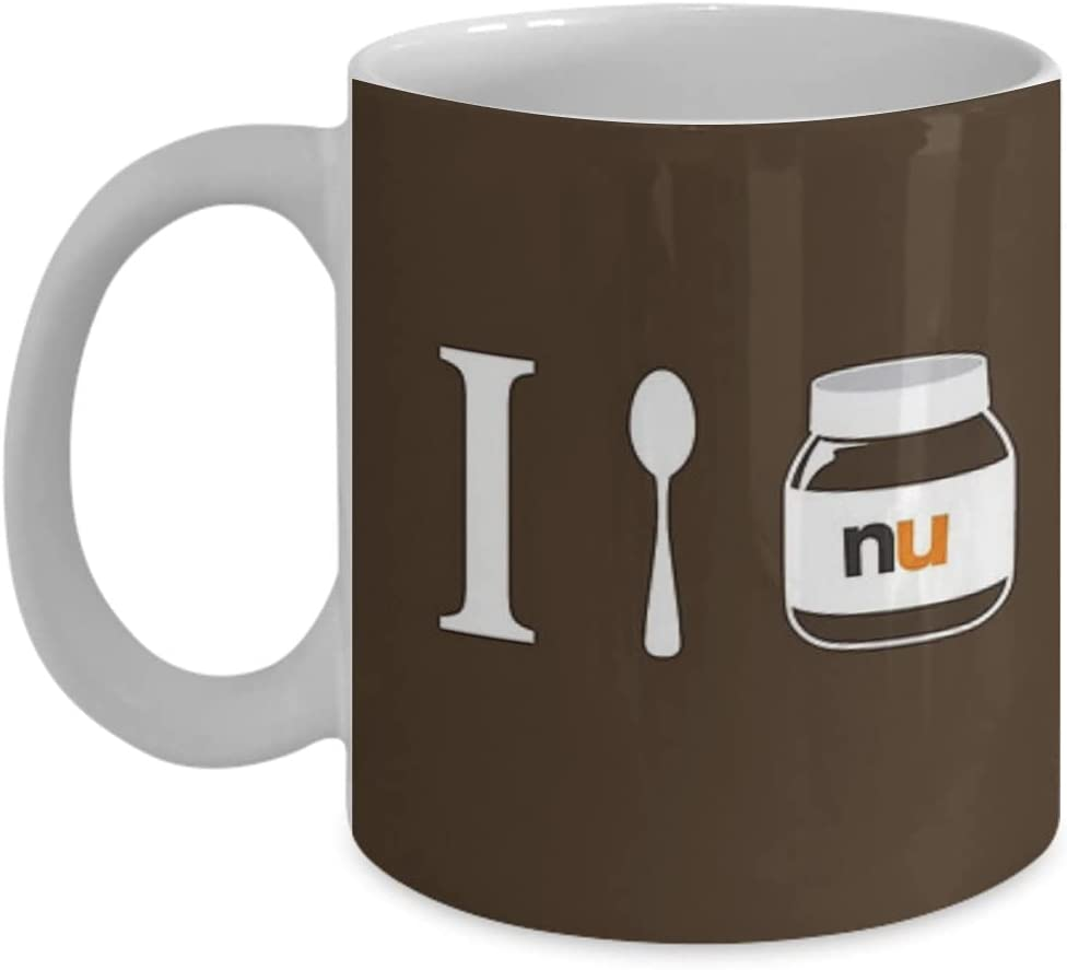 I Soop Nutella – Taza de té, divertido, cuota, regalo ideal para Him or Her, Womend Mother, Father's Day, Sister, Brother, Girlfriend, Boyfriend.
