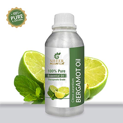 BERGAMOT OIL 100% Pure Undiluted Natural Uncut Therapeutic Grade Steam Distilled Essential Oils For Skin, Hair And Aromatherapy 1000ML