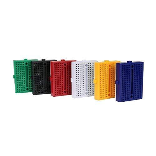 Basetta Piastra Sperimentale Breadboard – ALLEU (6 pezzi) 170 punti mini Breadboard per Arduino & Raspberry pi