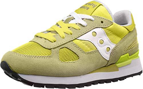 Saucony Originals Jazz Original Women, Sneaker Donna, Verde (Verde Lime, Bianco.), 38 EU