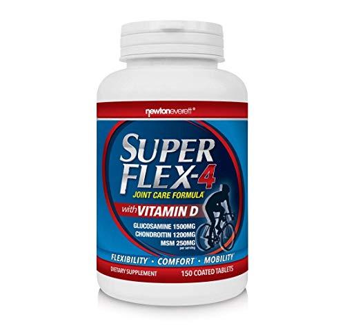 SUPERFLEX-4 - Supplement für die Gelenke (Glucosamin, Chondroitin, MSM und Vitamin D) - 150 Tabletten