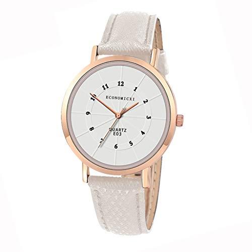 OPYTR Relojes de Mujer Mira Las Mujeres Mujeres De Negocios De Acero Inoxidable Vestido De Cuarzo Pulsera Reloj De Pulsera Moda Relojes Casuales Reloj de Pulsera (Color : White)