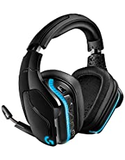 Logitech G935 Auriculares Gaming RGB Inalámbrico, Sonido 7.1 Surround,DTS Headphone:X 2.0,Transductores 50mm Pro-G, 2, 4GHz Inalámbrico,Mic Volteable para Silenciar,PC/Mac/Xbox One/PS4/Nintendo Switch