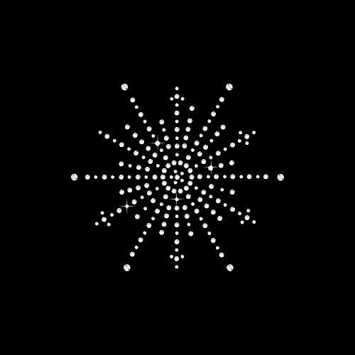 Strass Motiv Schneekristall 12x10,5 cm hotfix Applikation zum Aufbügeln