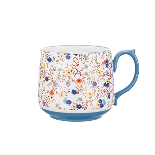 GYZD Taza de café de cerámica para Oficina y hogar, lavavajillas,C