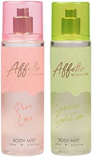 Affetto By Sunny Leone Pure Love & Summer Seduction Body Mist - For Women 200ML Each (400ML, Pack of 2)