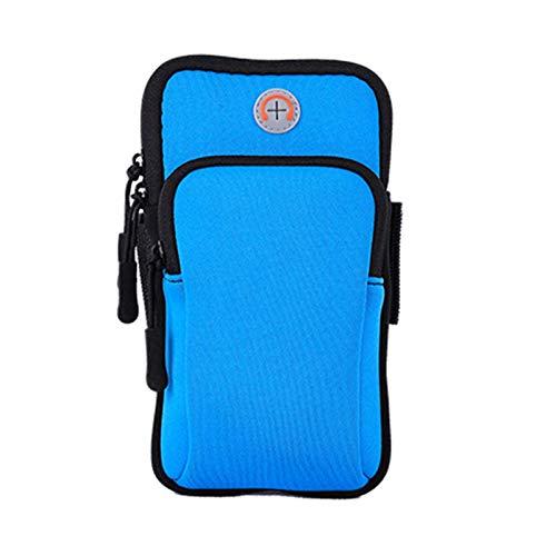 xmk2021888 Riñonera Bolso de brazo deportivo, bolsa de brazo deportivo impermeable de 6 pulgadas universal, correa de brazo de gimnasio corriendo, bolsa de brazo deportivo al aire libre, bolso de telé