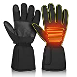 CLISPEED Touch Screen Heated Gloves Winter Heating Hand Warmers for Men Women Skiing Snowboarding Cycling Hiking (M)