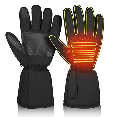 CLISPEED Touchscreen Beheizte Handschuhe Winterheizung Handwärmer für Damen Herren Skifahren Snowboarden Radfahren Wandern (280.00, L 2)